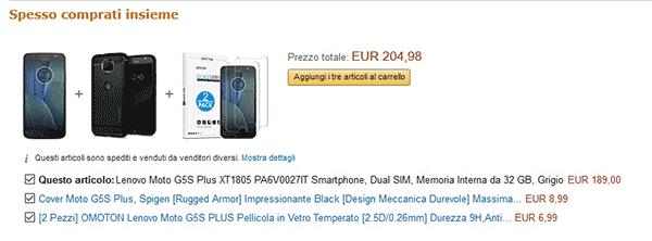 Amazon prodotti spesso comprati insieme